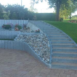 Aménagement d'escalier extérieur traditionnel