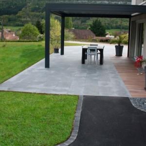 Aménagement de terrasse en dalle