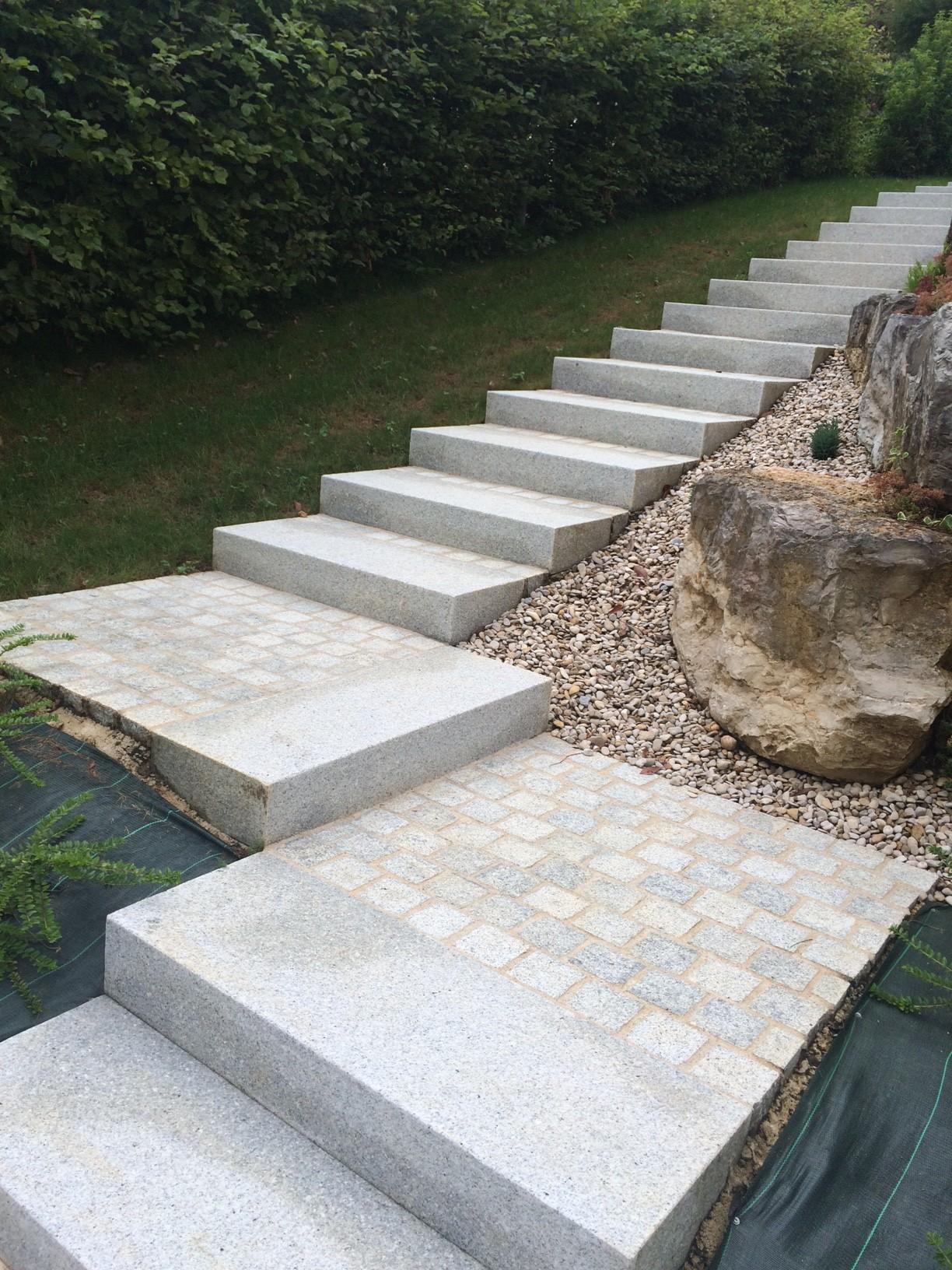 Escalier ext rieur en bloc marche cuinet for Escalier exterieur 6 marches