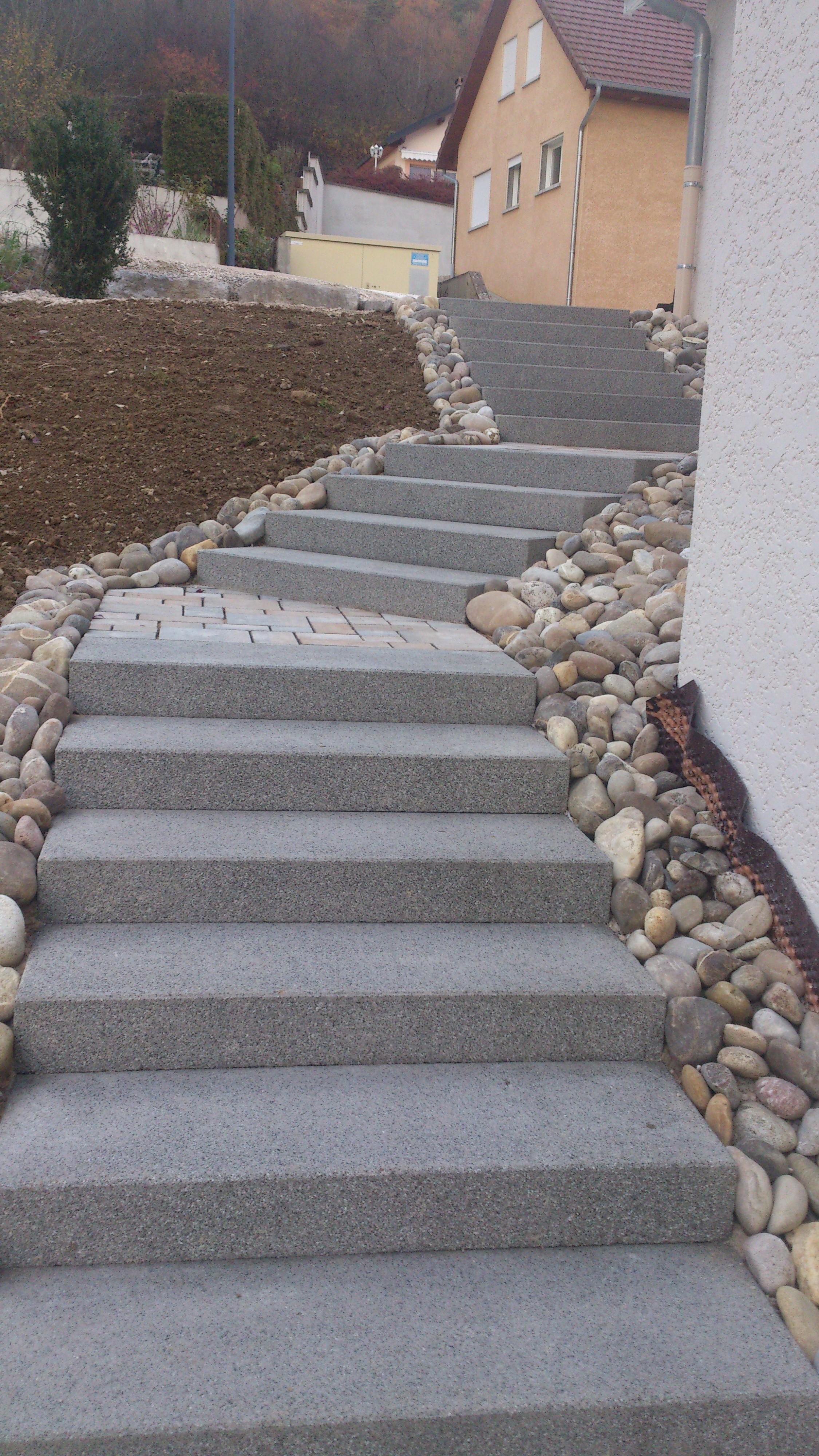 Bloc marche escalier exterieur escalier granit exterieur for Escalier exterieur granit