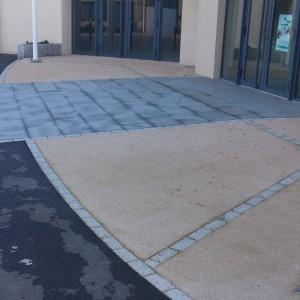 Aménagement de terrasse mixte